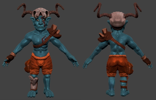 Goblin Character Model Sheet